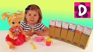 ✿ Кукла Baby Alive Кушает Космическое Питание Распаковка и Обзор Making Challenge taste space food