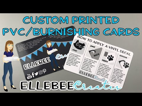Custom Printed Burnishing/Business Cards - no expensive equipment or sublimation required