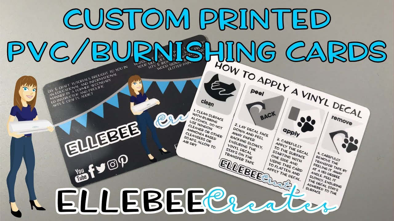 Custom Printed Burnishing/Business Cards - no expensive equipment or ...