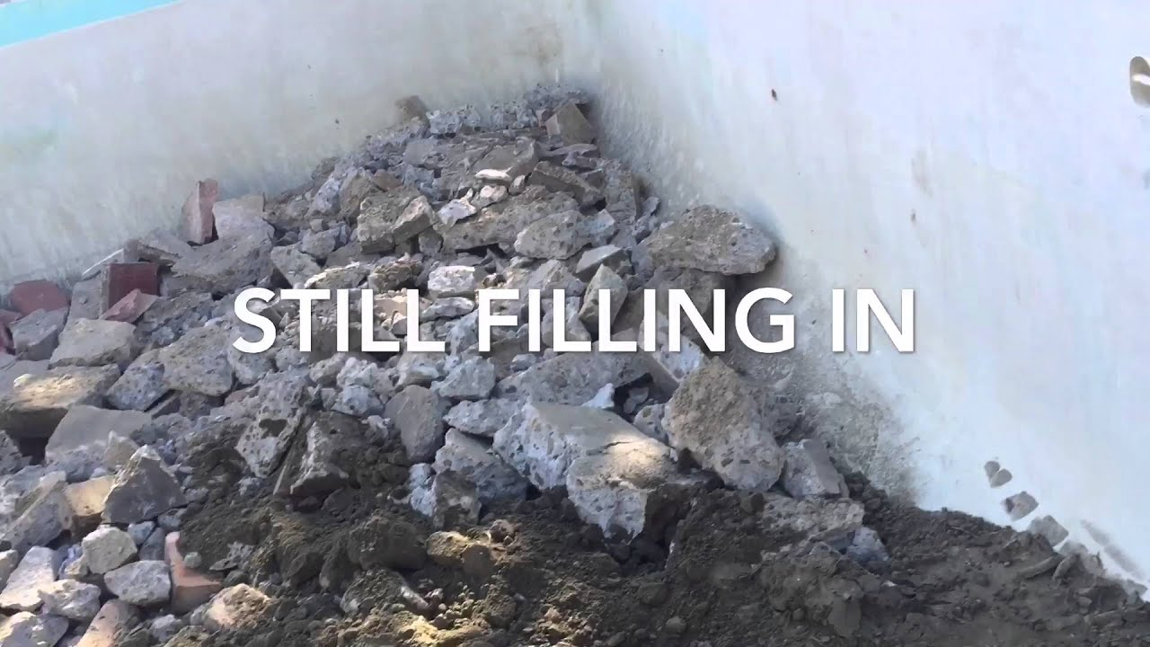 Backfilling Your Swimming Pool Youtube
