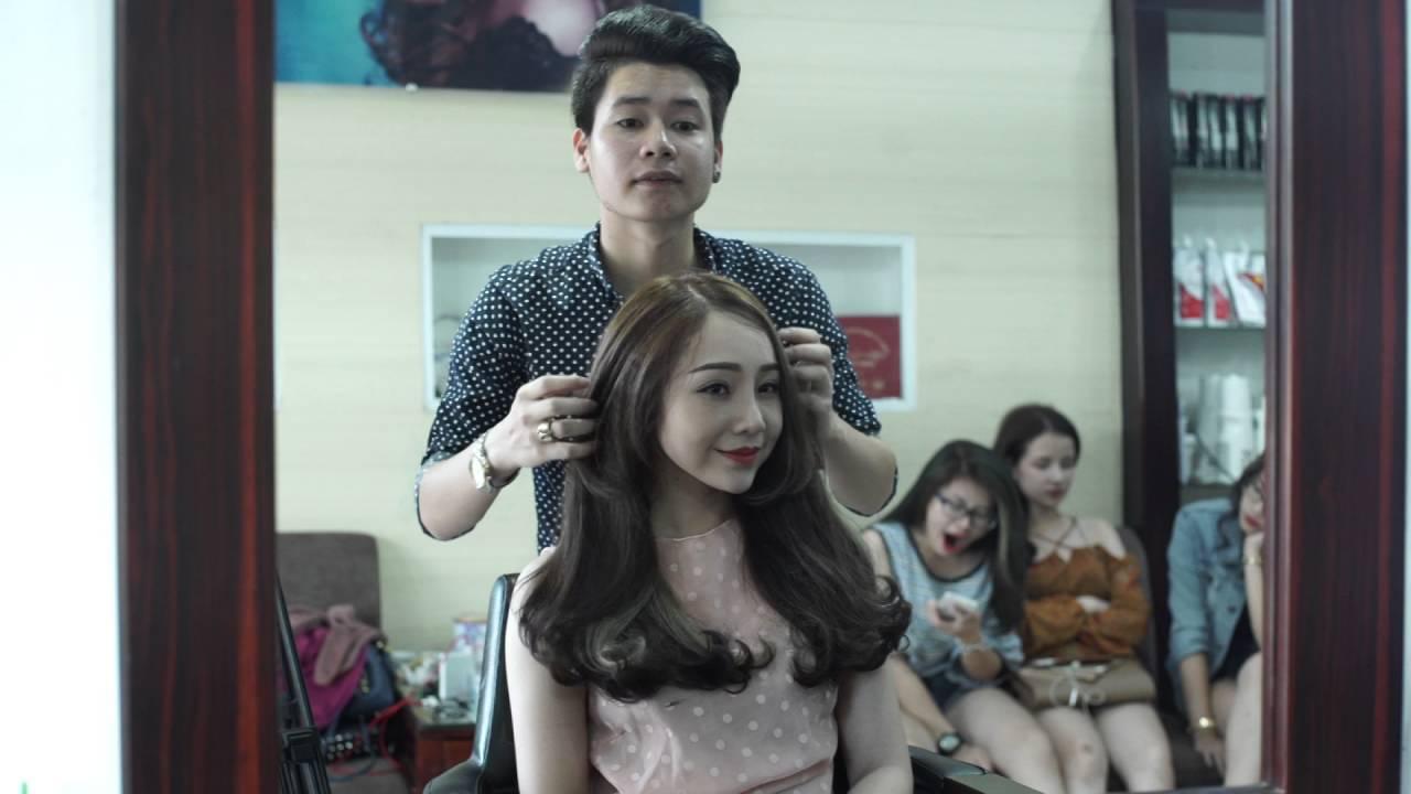 Tóc dài uốn đuôi ( Hoàng Bách Hair Salon )