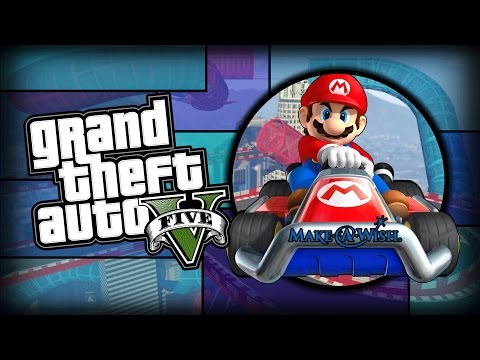 MARIO'S MAKE A WISH FOUNDATION - GTA Online Racing Funny Moments
