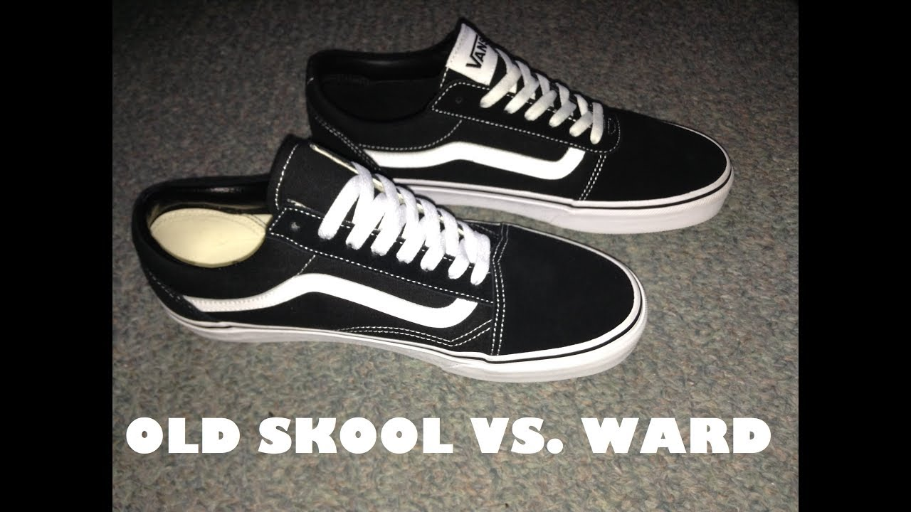 69994a0cc51d8f Vans Old Skool vs Vans Ward (Comparison Video) - YouTube