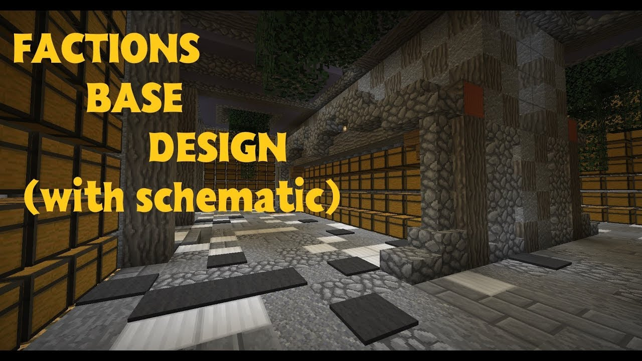 minecraft faction base schematic download