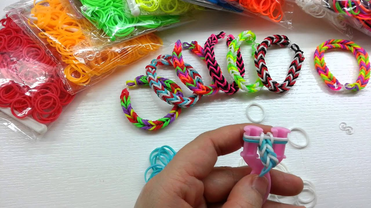Fishtail DIY Colorful Loom Bracelet Tutorial ~ How To Y型丫義手鈎編織法 ( 1 ) - YouTube