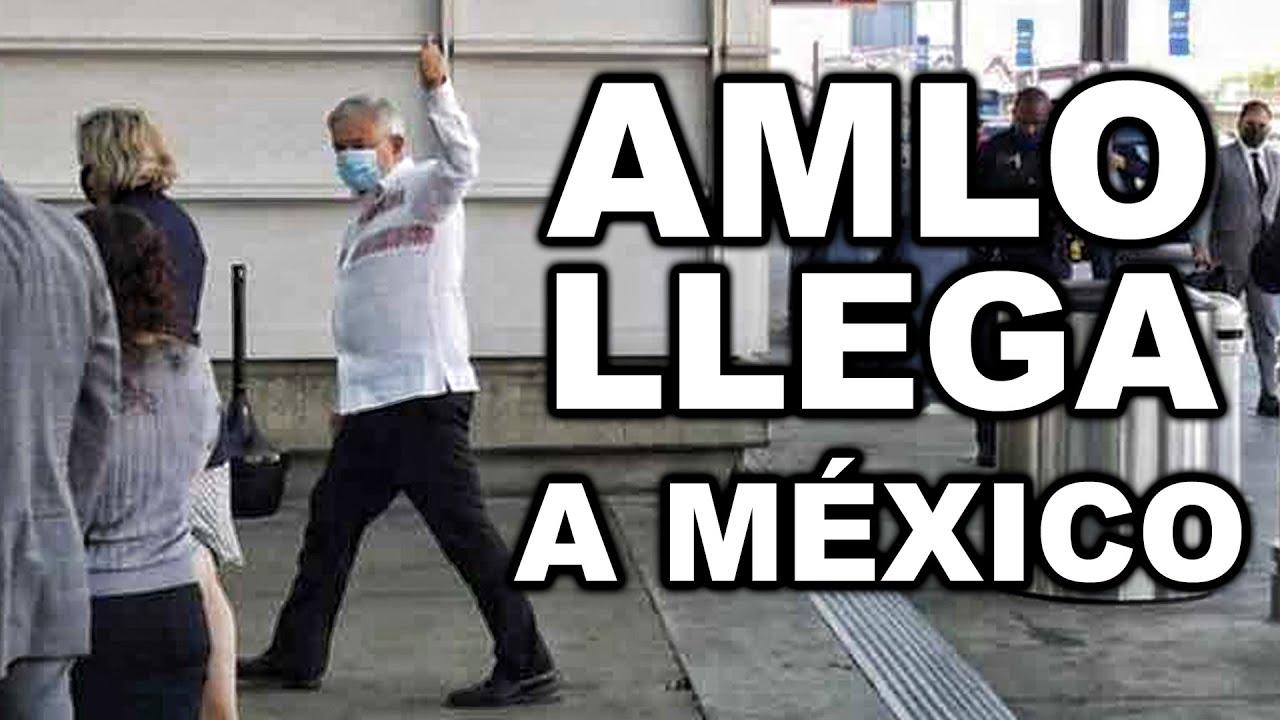 Hace Unas Horas, Asi Llego AMLO a México Tras Visita a Trump