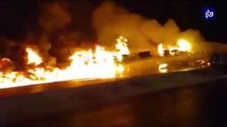 حادث تدهور على الطريق الصحراوي يودي بحياة سائق صهريج محمل بمادة الفيول - (3-8-2017)
