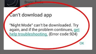 How to fix google play store error 924|can't download app in google play store