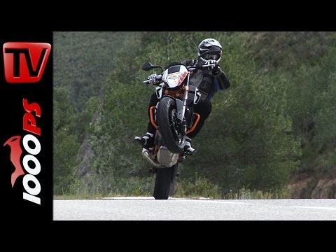 KTM 690 Duke 2014 | Actionszenen, Wheelies, Drifts