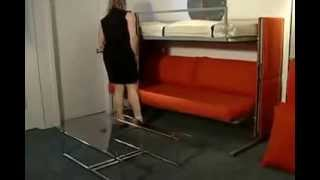 видео Двухъярусная кровать с диваном: модели и механизмы трансформации