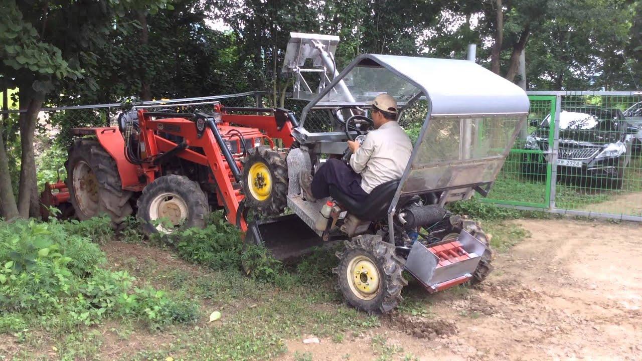 Korea 4x4 Mini Tractor Loader No 1 Abc Tractor Load 경운기