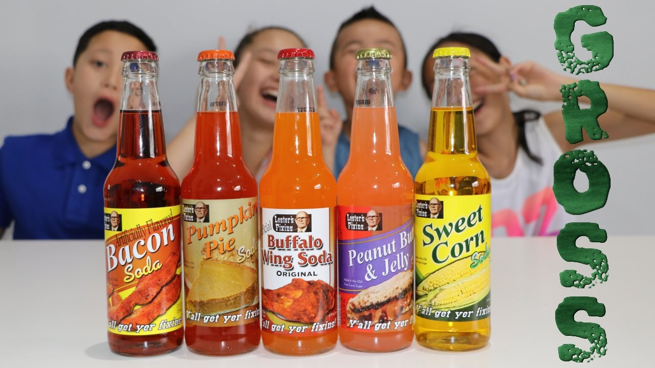 YUCKY GROSS  DISGUSTING Kids Surprise Fun Soda Tasting Challenge With Weird Flavours Ckn Toys