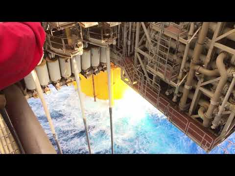 Shell's offshore oil rig Auger world's first tension leg pla