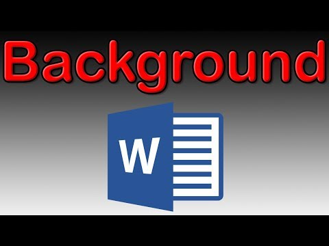 How to insert and set a background image in Word 2016 - Tutorial