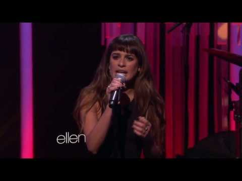 Lea Michele singing 'Cannonball' on Ellen