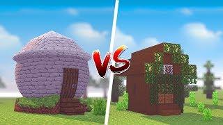 Minecraft: CASA REDONDA VS CASA QUADRADA  ‹ JUAUM ›
