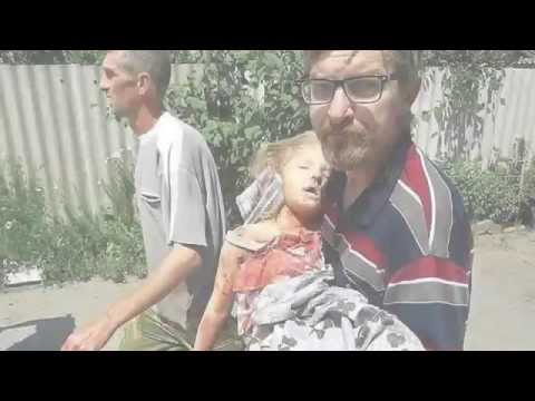 Slavyansk. 6 Year Old Girl Killed By Ukrainian Shell From Mount Karachun. 8 June 2014