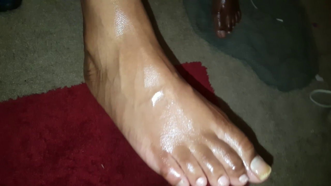 Oiled Veiny Foot Fetish - Youtube-9849