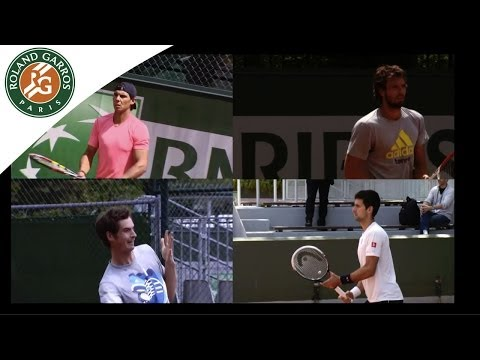 Semi-finalists practice session - 2014 French Open