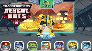 Transformers Rescue Bots: Disaster Dash Hero Run #167 | BUMBLEBEE Lava Mission!