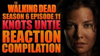 the walking dead   knots untie hilltop fight   reaction compilation