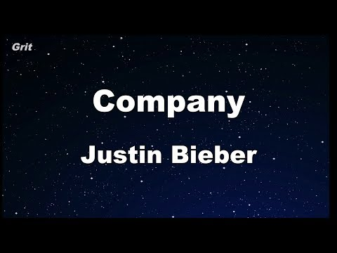Company - Justin Bieber Karaoke 【With Guide Melody】 Instrumental