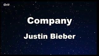 Company - Justin Bieber Karaoke 【With Guide Melody】 Instrumental