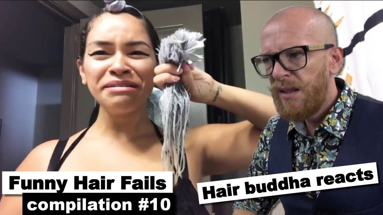 Hair Buddha reacts on Funny Hair Fails #10 - Hairdresser reaction - try not to laugh