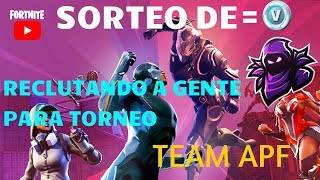 CONTING PEOPLE FOR COMPETITIVE TEAM ( APF ) FORTNITE LIVE!!! | AlexproX AlexproX