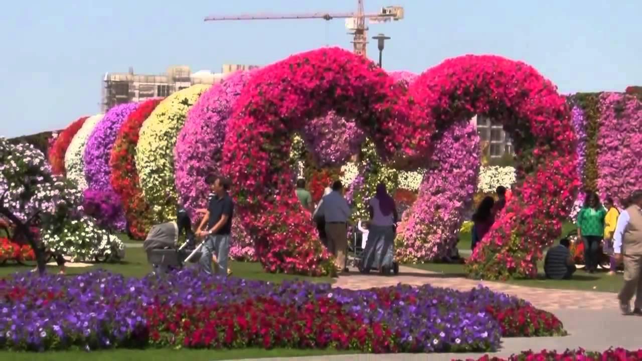 Miracle garden dubai youtube for Imagenes de jardines exoticos