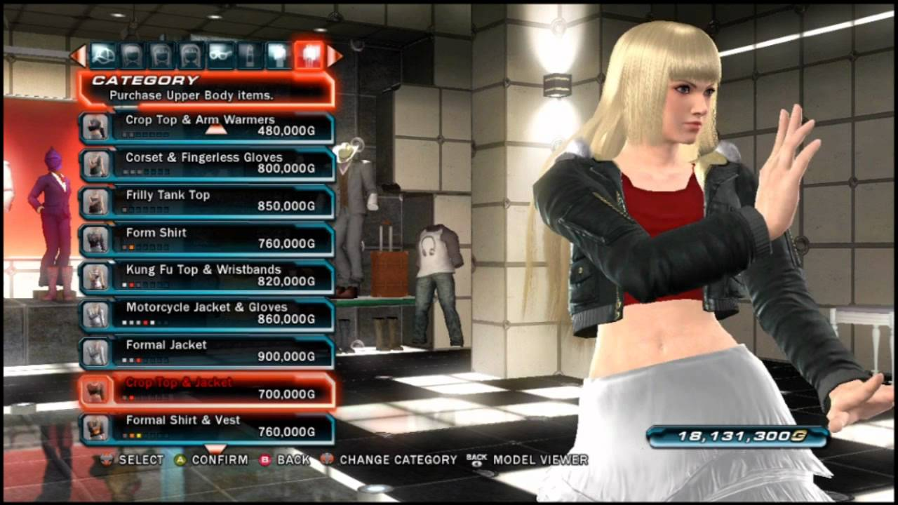Tekken tag tournament 2 a look at lili s purchasable clothing