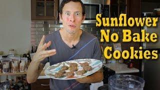 No Bake Sunflower Butter Cookies: Raw Vegan Organic Recipe