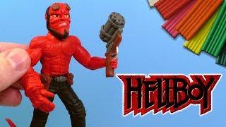 ХЕЛЛБОЙ ЛЕПИМ ИЗ ПЛАСТИЛИНА | Hellboy Видео Лепка