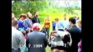 Водное крещение евангельских христиан баптистов 1994/ Russian Baptists baptize with water