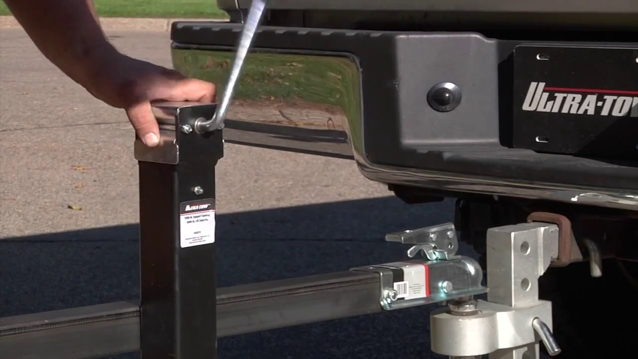 Ultra-Tow Weld-On Top-Wind Trailer Jack - 5,000lb  Lift Capacity