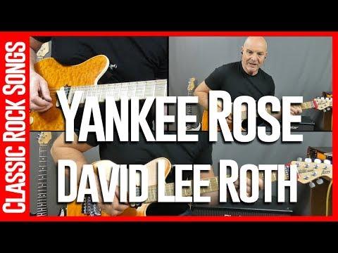 Yankee Rose By David Lee Roth - Guitar Lesson Tutorial
