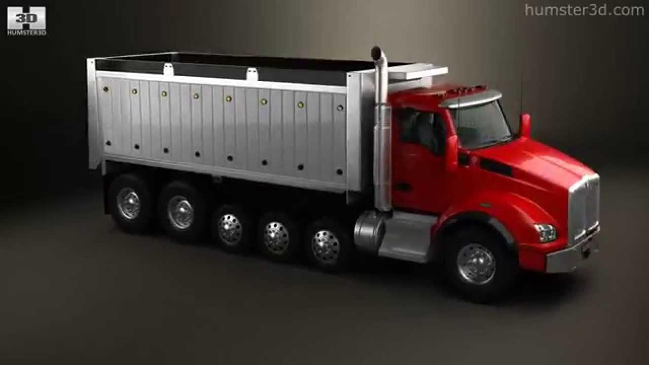 Six Axle Truck : Kenworth t dump truck axle by d model store