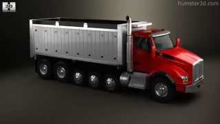 Kenworth T880 Dump Truck 6-axle 2013 by 3D model store Humster3D.com
