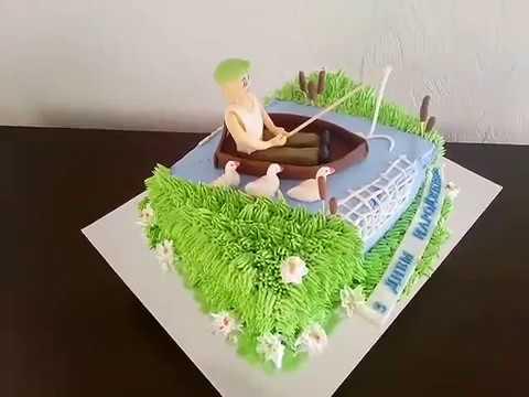 Торт для Рыбака,кремовый.