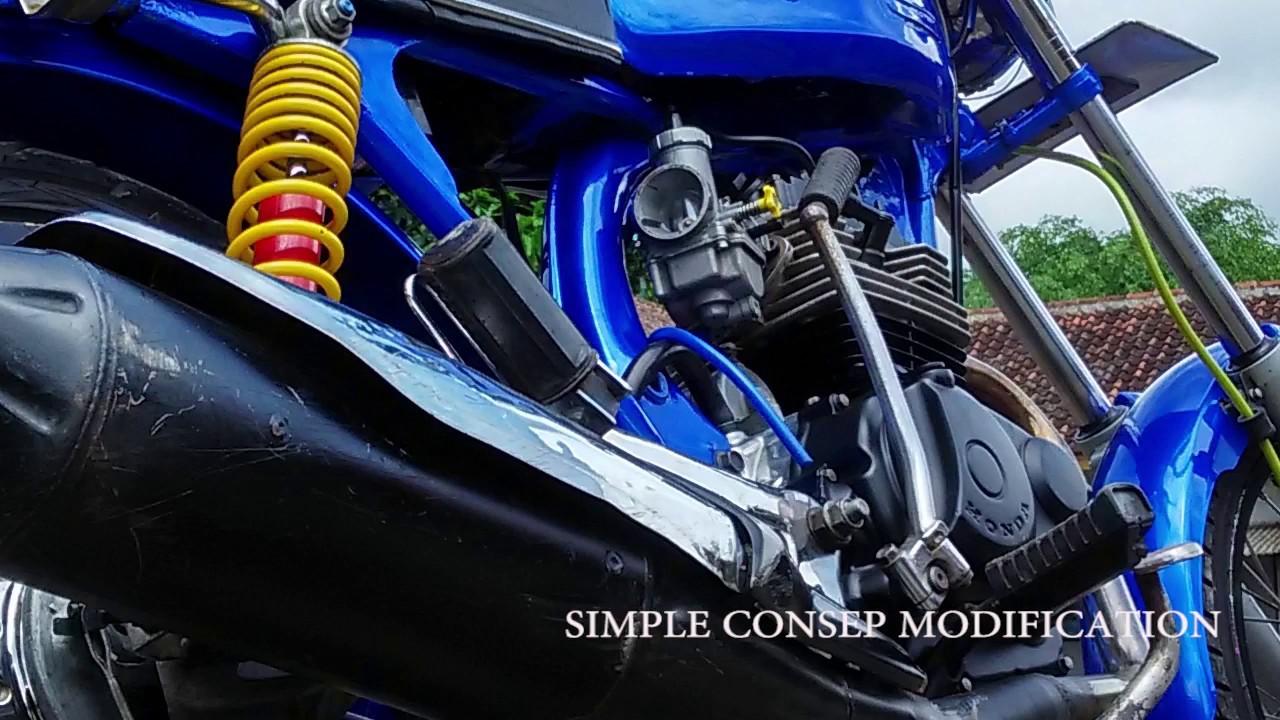 Koleksi 85 Modifikasi Motor Cb Warna Biru Terlengkap Fire Modif