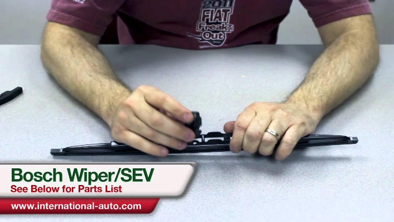 I 80 Auto Parts >> Bosch Wiper SEV adapter Installation - International Auto Parts - YouTube