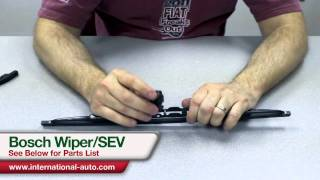 Bosch Wiper SEV adapter Installation - International Auto Parts