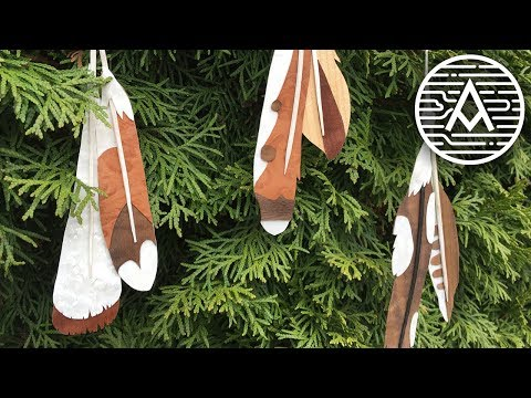 DIY Wooden Feather Ornaments --- Woodworking