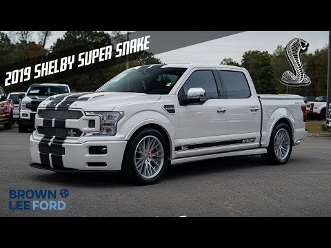 #1 Of 1 2019 Shelby Super Snake F-150 755 Horsepower FOR SALE White Platinum With Black Stripes