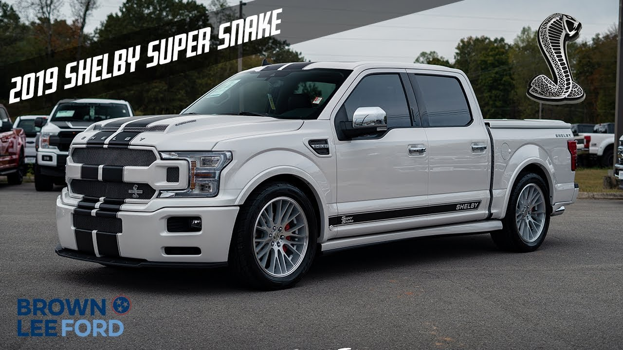 Shelby F150 Specs >> 1 Of 1 2019 Shelby Super Snake F 150 755 Horsepower For Sale White Platinum With Black Stripes