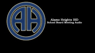AHISD School Board Meeting Audio - September 20, 2018