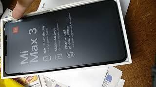Xiaomi max 3 unboxing