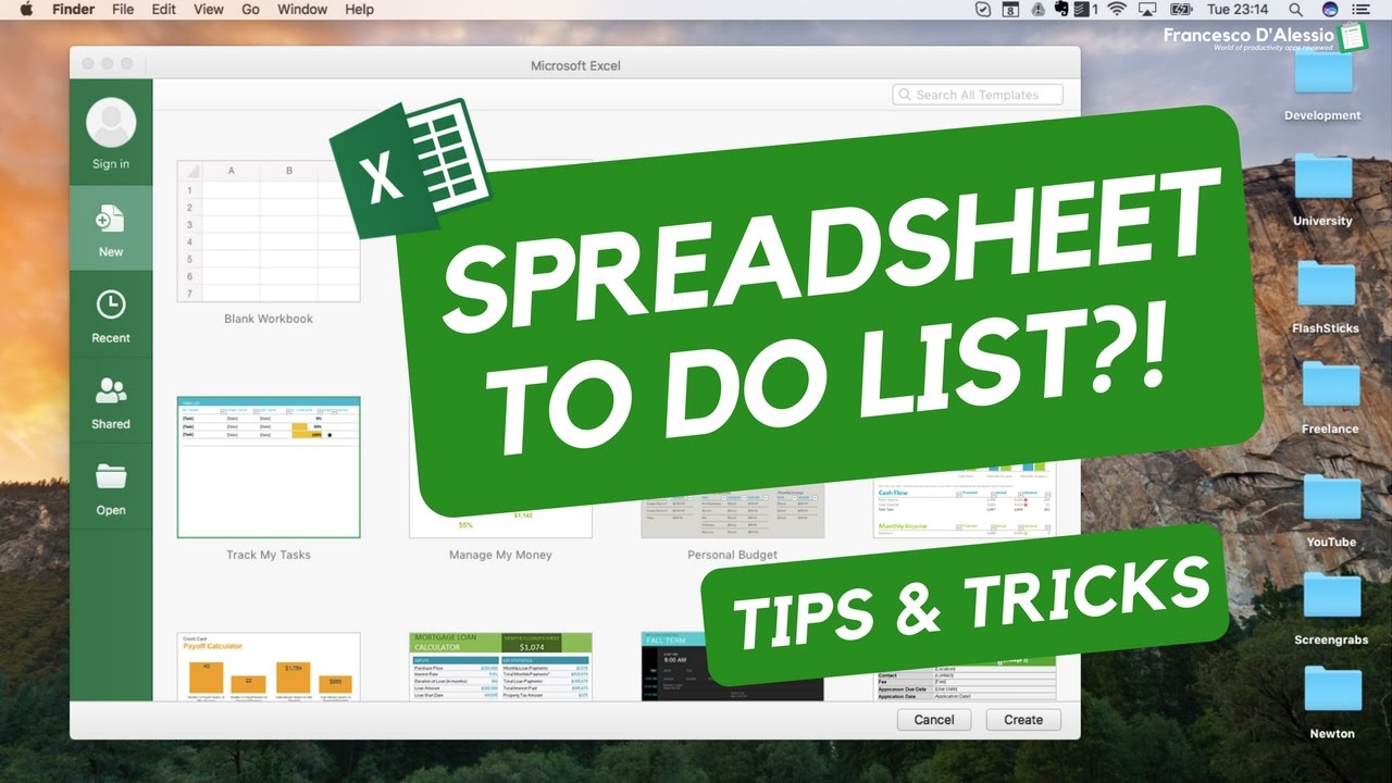 spreadsheets todo list youtube