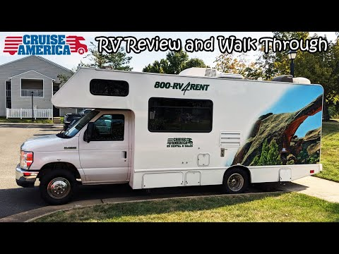 Cruise America - Review And Walk Through Of 25' Standard 5 Passenger RV