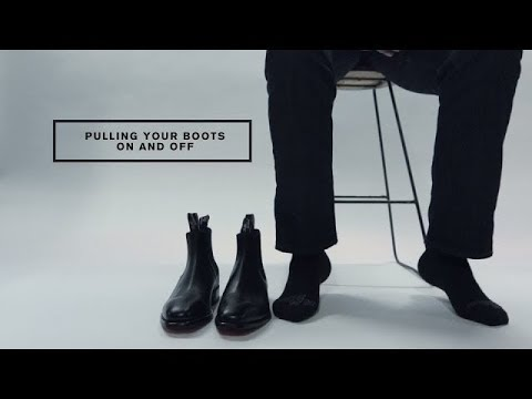 Pulling your boots on and off
